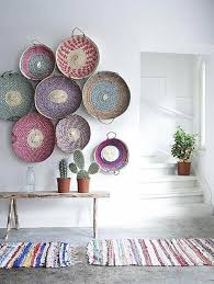flat woven wall baskets woven basket wall decor
