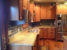 Painting Kitchen Backsplash Painted Backsplash Slate Subway Tiles