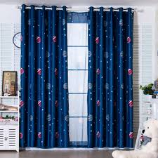 Latest 2 Colors Blue Planet Star Wars Cartoon Curtains For Boys Bedroom  Kids Living Room Shade Window Curtain Home Decor Cortina In Curtains From  Home ...