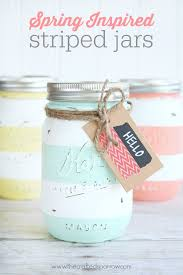 Cute Jar Decorating Ideas Spring Inspired Striped Jars The Crafted Sparrow 42