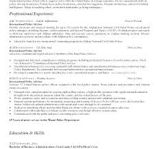 Law Enforcement Resume Templates
