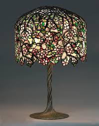 tiffany studios designed by clara driscoll i apple blossom table lamp