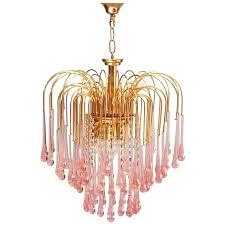 vintage teardrop chandelier pink crystal teardrop waterfall chandelier teardrop crystal chandelier