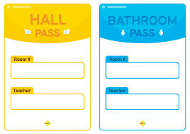 Hallway Pass Template Printable Hall Pass Under Fontanacountryinn Com