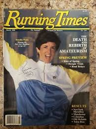 1988 March Issue of Running Times Priscilla Welch Cover & Autographed | eBay
