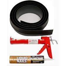 tsunami seal 10 ft black garage door threshold kit