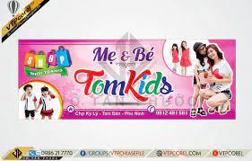 Bảng hiệu shop Mẹ và Bé TOMKIDS CDR12 | VTPcorel | - VTPcorel