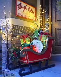 diy santa sleigh with free pattern