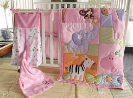 american baby bedding set girls crib bed set pink animal zoo inc comforter per coverlet and skirt crib bedding baby bedding set with 131 25 set
