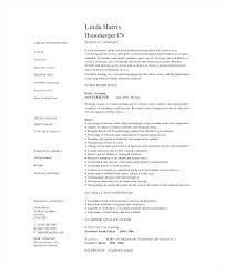 Housekeeping Resume Example Free Download Residential Housekeeper ...