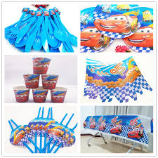 Lightning Mcqueen Birthday Party Us 12 26 38 Off 62pcs Disney Lightning Mcqueen Birthday Party Cute Cartoon Party Supplies Paper Napkin Decoration And Party Supplies In Disposable