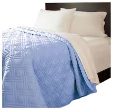 Lavish Home Solid Color Bed Quilt, Full/Queen, Blue - Contemporary ... & Lavish Home Solid Color Bed Quilt, Full/Queen, Blue contemporary-quilts- Adamdwight.com