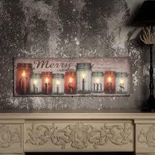 Canvas Christmas Prints With Led Lights Christmas Candles Canvas Print With Led Lights