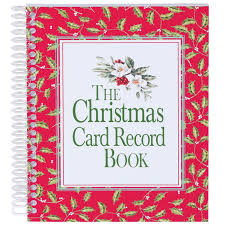 How To Address A Christmas Card Christmas Card Record Book
