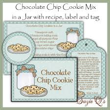 Recipe Labels Make Your Own Chocolate Chip Cookie Mix In A Jar Label
