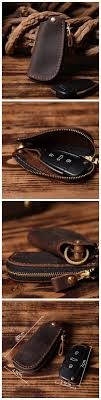 genuine leather car key case for bmw mini cooper 3 buttons auto cover protection holder with keychain