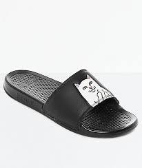 Ripndip Lord Nermal Black Slide Sandals