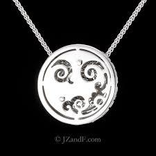 carrera y carrera pave diamond pendant necklace alegria 18k white gold and white and black vvs diamonds