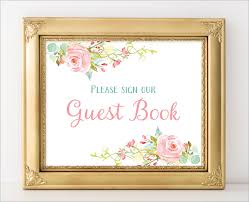 guest book template free sample guest book template sample guest sign sheet template baby