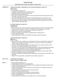 Research Assistant Resume Sample Student Research Assistant Resume Samples Velvet Jobs 17