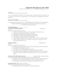 Nursing Cover Letter Examples Sample Professional Resume