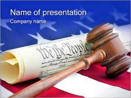 Gavel With American Flag Powerpoint Template Infographics Slides
