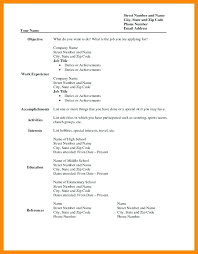 Blank Printable Resumes Free Printable Resume Templates For Kids Examples Online Cv