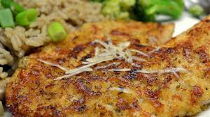 photo of parmesan crusted tilapia fillets by france c
