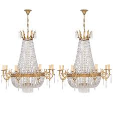 empire style chandelier french for vintage frame only black shades