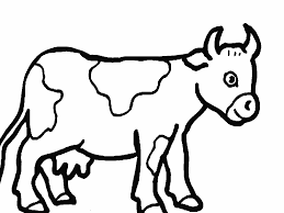 Cute Farm Animals Cow Coloring Pages