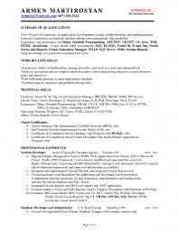 Sql Experience Resume Sample Pl Sql Resume Samples Image Gallery Oracle Pl Sql Developer Resume 2