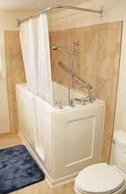 bliss walk in bathtub with end panel shower rod