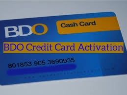 activate bdo credit card