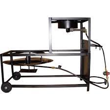 king kooker 105 000 btu bolt together propane gas outdoor frying boiling cart with cast burner