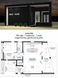 studio900 front courtyard house plan 61custom small modern floorplan