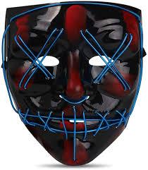 Led Light Up Mask Amazon Hapycity Led Light Up Mask Perfect For Halloween 2019 Costume Festival