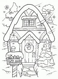 Winter Coloring Page Printable Fun Coloring Pages House