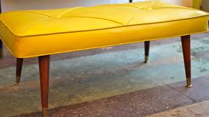 mid century modern tufted bench home design ideas