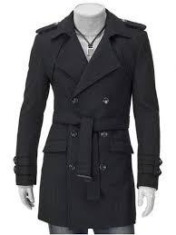 trendy turn down collar epaulet design double ted long sleeve woolen coat for men