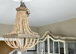 full size of wooden bead chandelier diy wood canada beaded chandeliers south africa hang light home