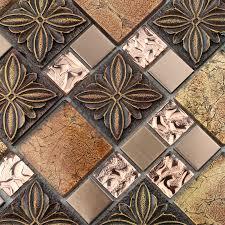 glass tile brown glass mosaic tiles crystal glass tile kitchen backsplash wall tiles porcelain 1390