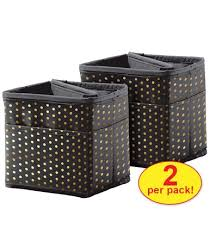 Tabletop Storage Black With Gold Polka Dots Pocket Chart Storage