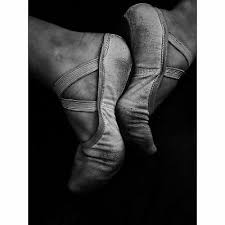 ballerina ballet shoes large canvas