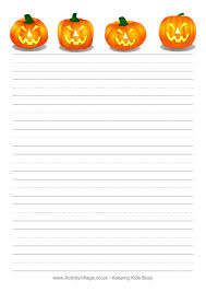 halloween writing paper jack o lanterns