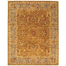 safavieh heritage collection hg812a handcrafted traditional oriental brown and blue wool area rug 9