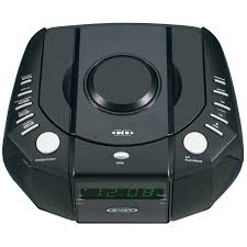 jensen jcr 310 am fm stereo dual alarm clock radio with top loading cd player digital tuner and aux input