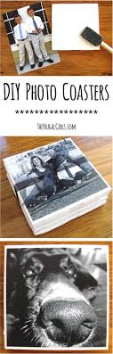 how to make photo coasters from thefrugalgirls com