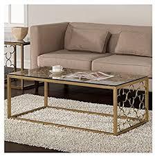 Quatrefoil Goldtone Metal And Glass Coffee Table Amazing Ideas
