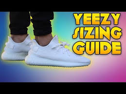 Yeezy Womens Size Chart Yeezy Boost 350 V2 Sizing Guide Youtube