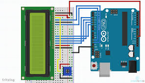 lcd wiring diagram arduino lcd image wiring diagram arduino lcd how to connect a liquid crystal display up to the arduino on lcd wiring